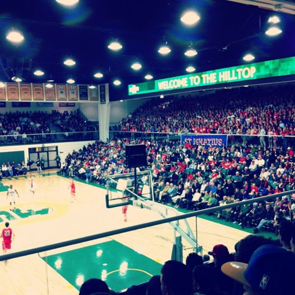 Many would argue Gonzaga at USF doesn't get this full... (Photo by @ConnorBuestad via Instagram)