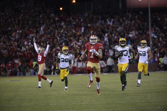 Colin Kaepernick's legs were too much for Green Bay to handle in last year's Playoffs