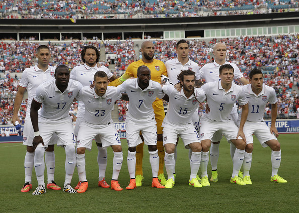 The USA's starting 11 in their final tune-up vs. Nigeria on Saturday (Photo by Mike Zarrilli)