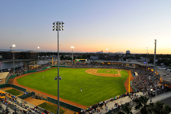The vastly underrated Banner Island Ballpark in Stockton