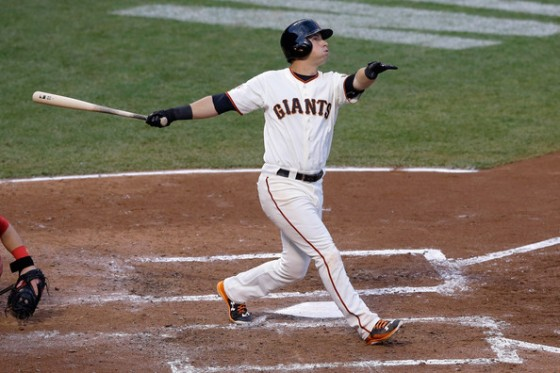 Panik's swing looks effortless from the left side (photo by Jason O. Watson)
