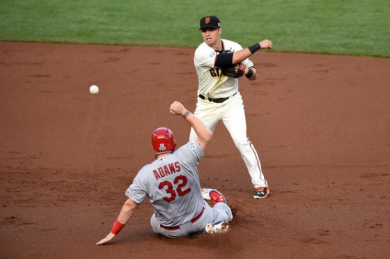 Jeff Kent never managed to win a World Series. Can Joe Panik do it in his first year? (photo by Thearon W. Henderson)