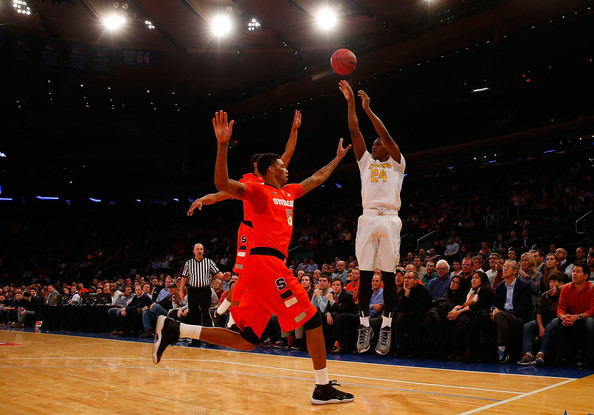The up and down Bears started their year with a win over Syracuse at The Garden. (photo by Mike Stobe)
