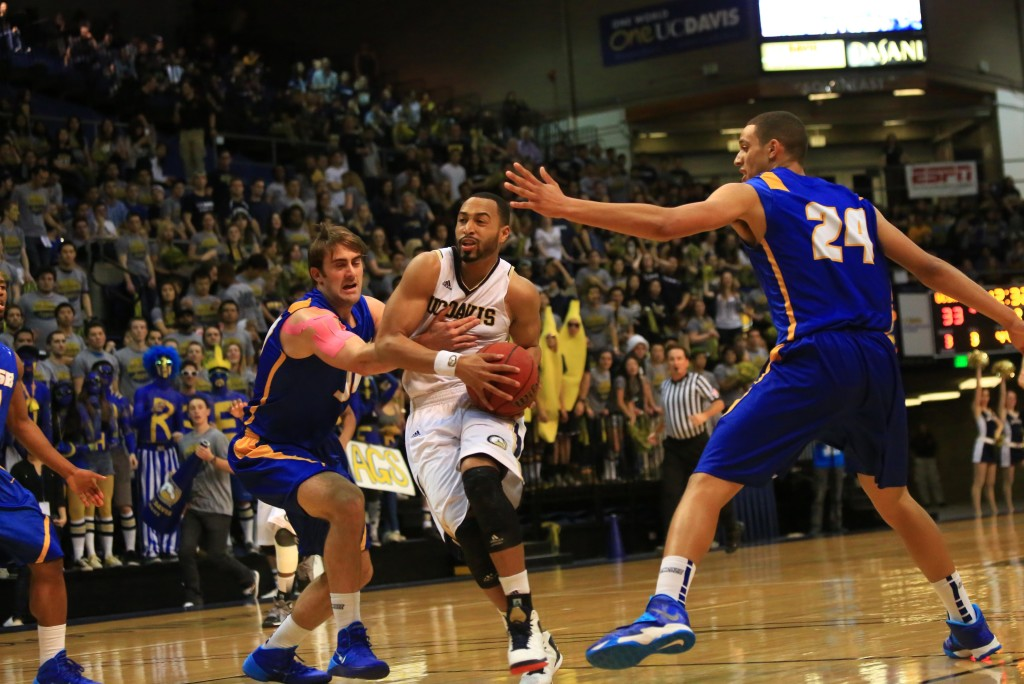 Corey Hawkins is leading the red hot UC Davis Aggies (photo by Fred Gladdis)