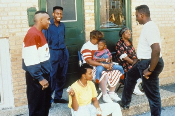 William Gates with his family in a scene from Hoops Dreams