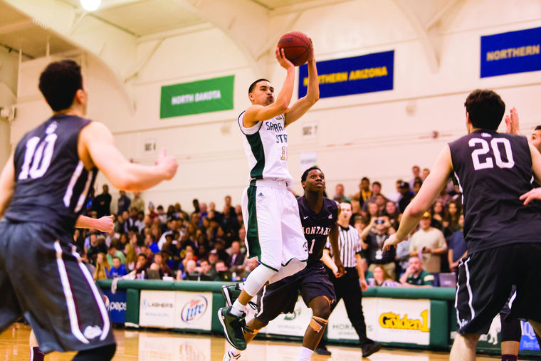 The vibe inside the Hornets Nest has been electric with Mikh McKinny leading the Sac State attack. (photo by Andrew Watson)